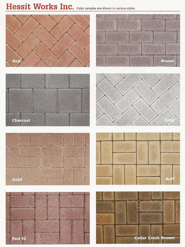 Hessit Works Inc Offers 2 3 4 And 5 Color Blends To Provide You With A Large Selection Of Paving Stones Contact Us For More Information On Pavers